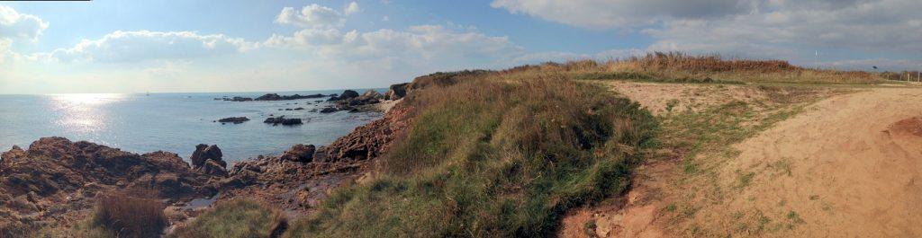 Côte rocheuse des sables d'olonne en vendée